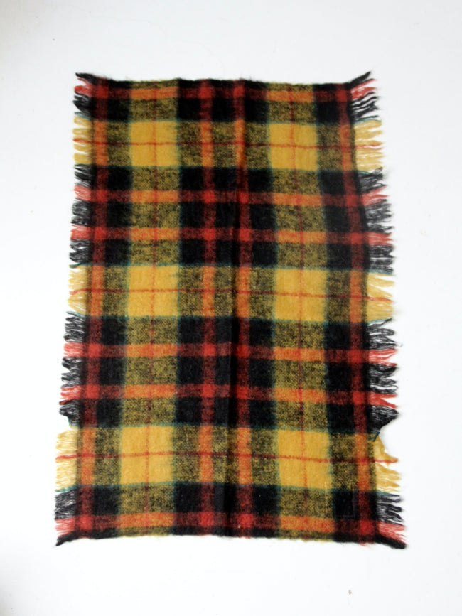 vintage Scottish wool plaid blanket