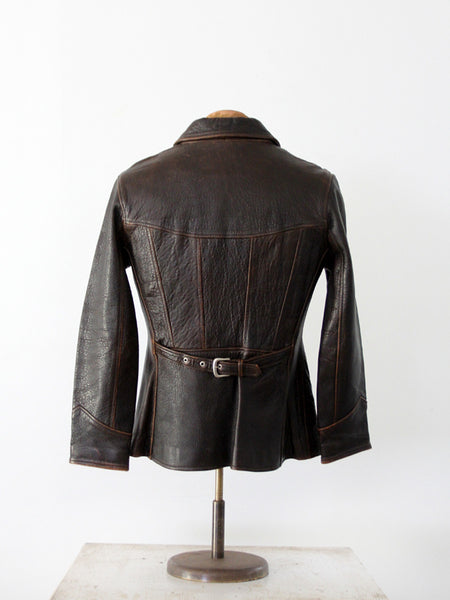 vintage John Michael leather jacket