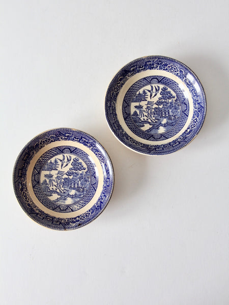 1940s Homer Laughlin blue willow bowls set of 2