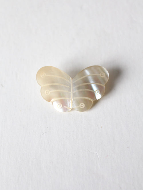vintage mother of pearl butterfly brooch