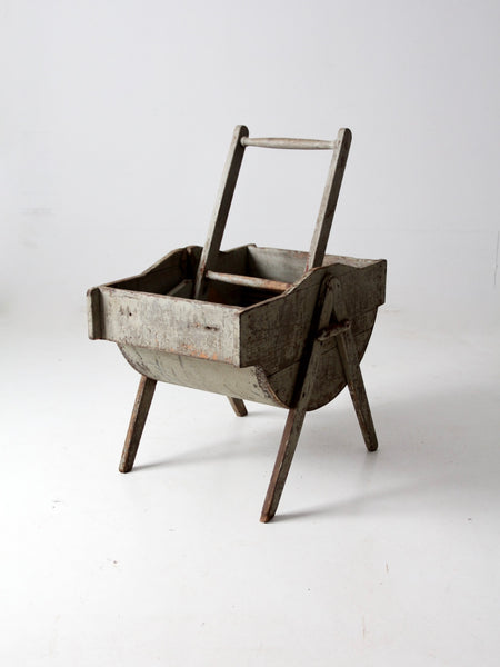 antique rocking laundry wash tub