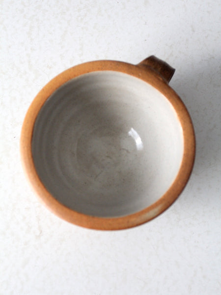 vintage studio pottery wide mouth mug
