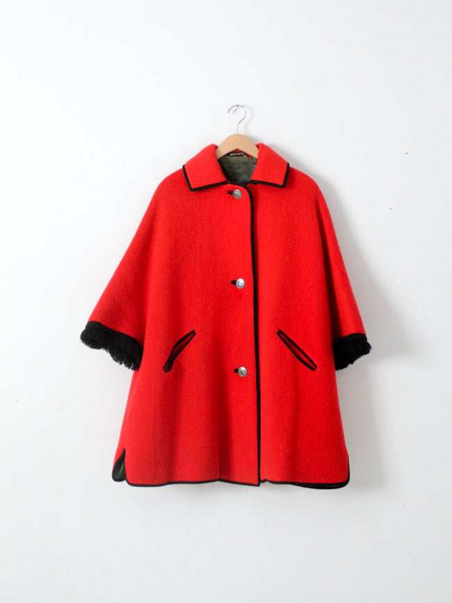 vintage Loden cape coat