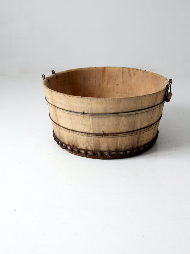 antique wooden barrel tub