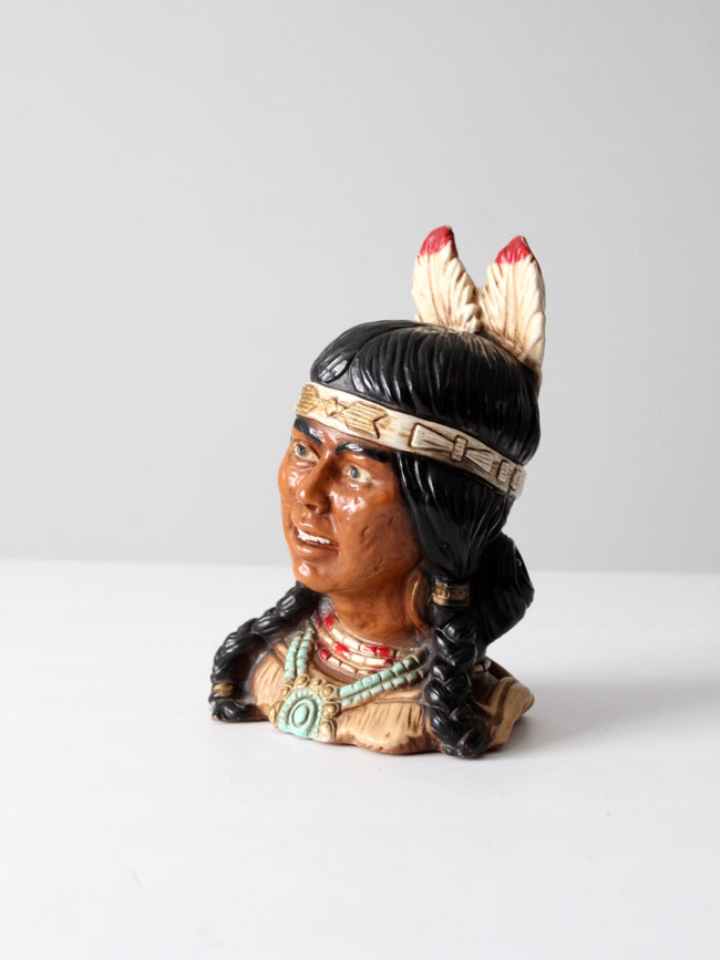 American Indian bust ca. 1974