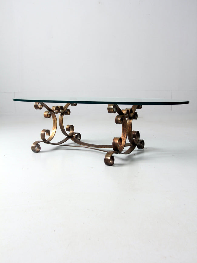 mid-century scroll coffee table
