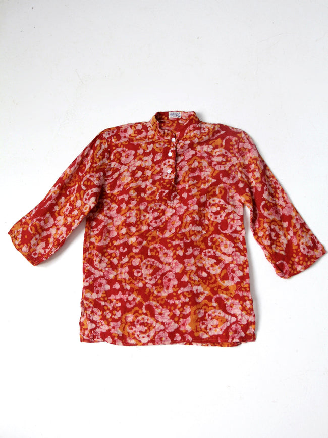vintage 70s India cotton top
