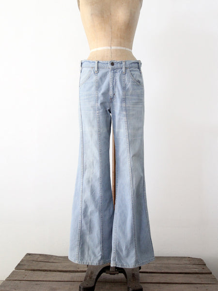 vintage 70s Yes wide leg denim jeans, 30 x 35
