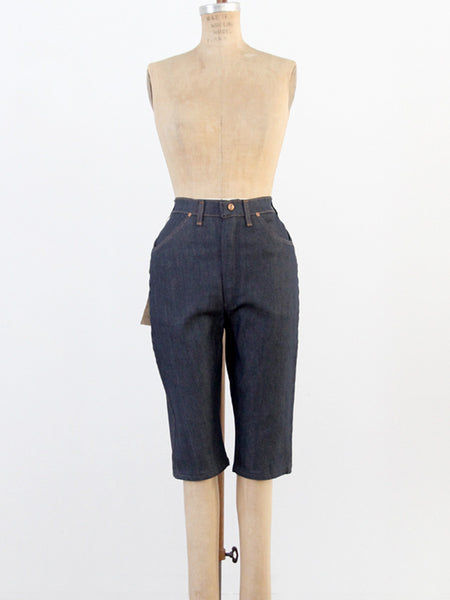 vintage 60s Maverick slim denim shorts, waist 27