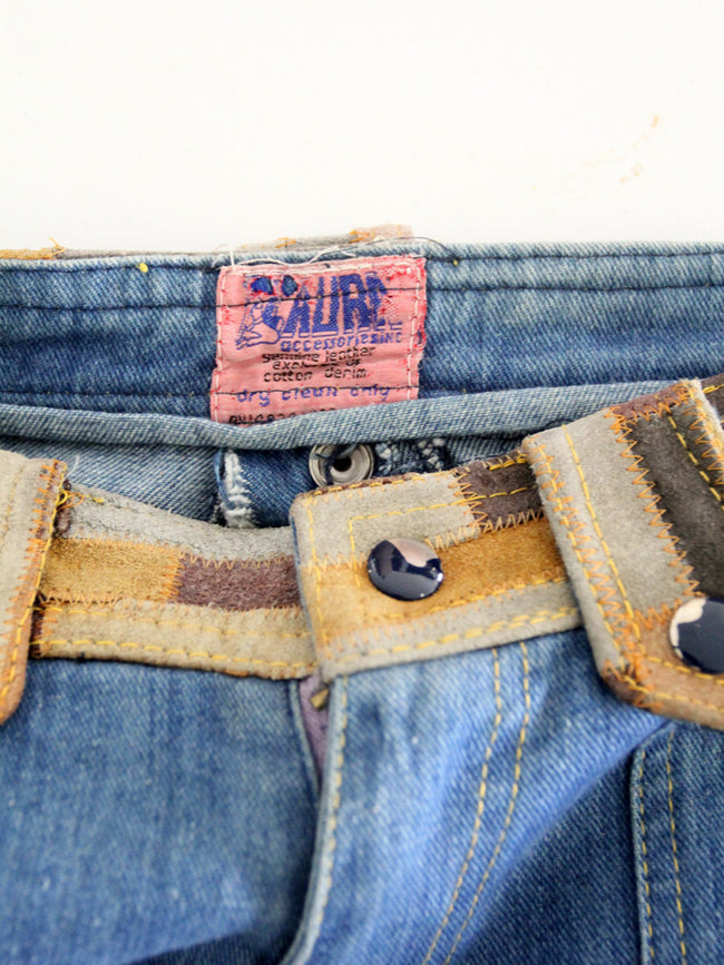 vintage patchwork denim