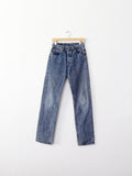vintage Levi's 501 hard wash denim jeans, 29 x 33
