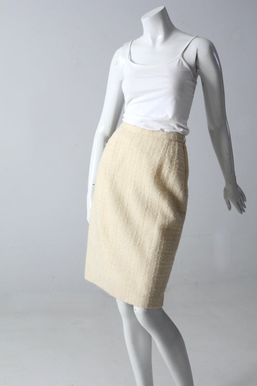 vintage 60s Brentwood boucle skirt