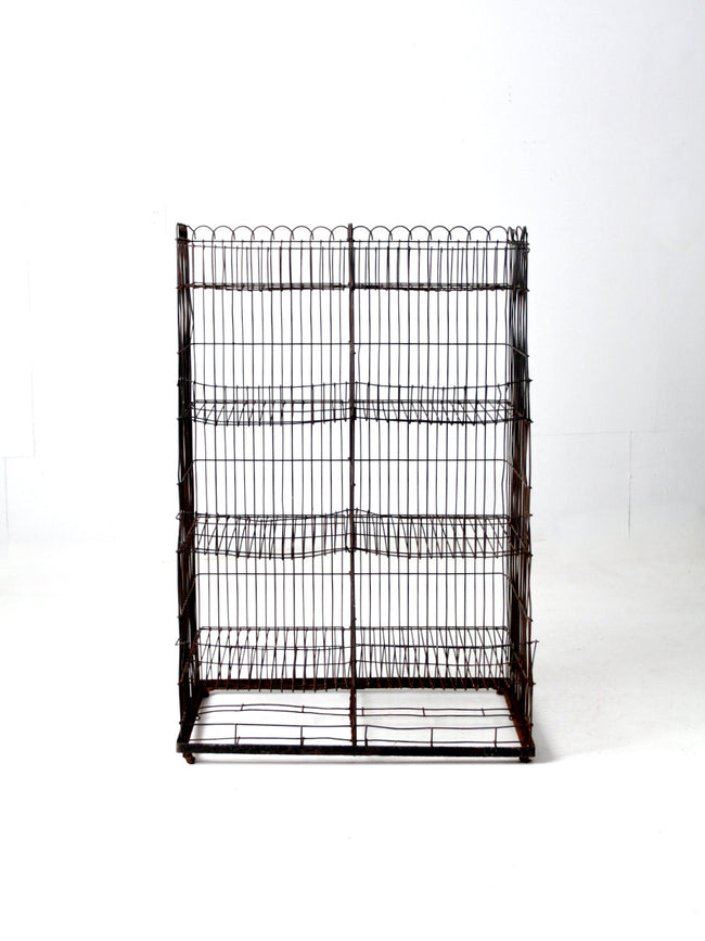vintage wire display rack