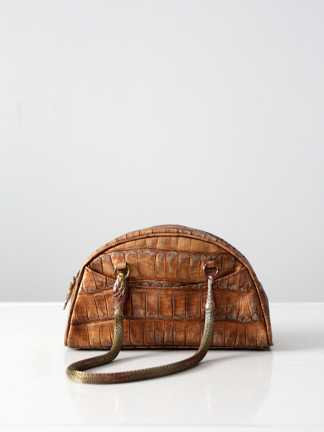 John Galliano snake satchel