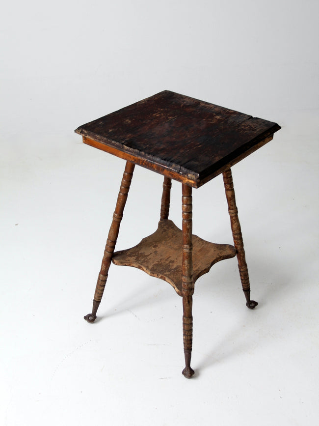 antique claw foot side table
