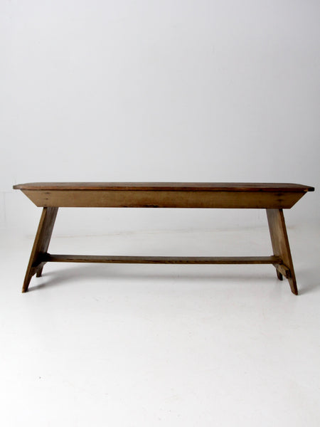 mid-century wood tray