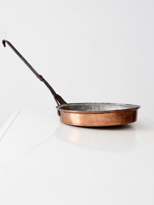 antique copper saute pan