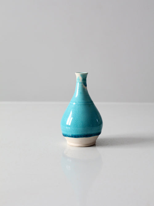 studio pottery bottle neck vase