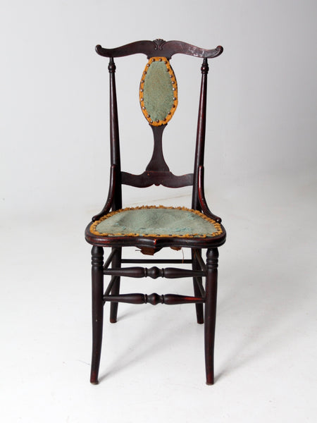 antique Queen Anne style accent chair
