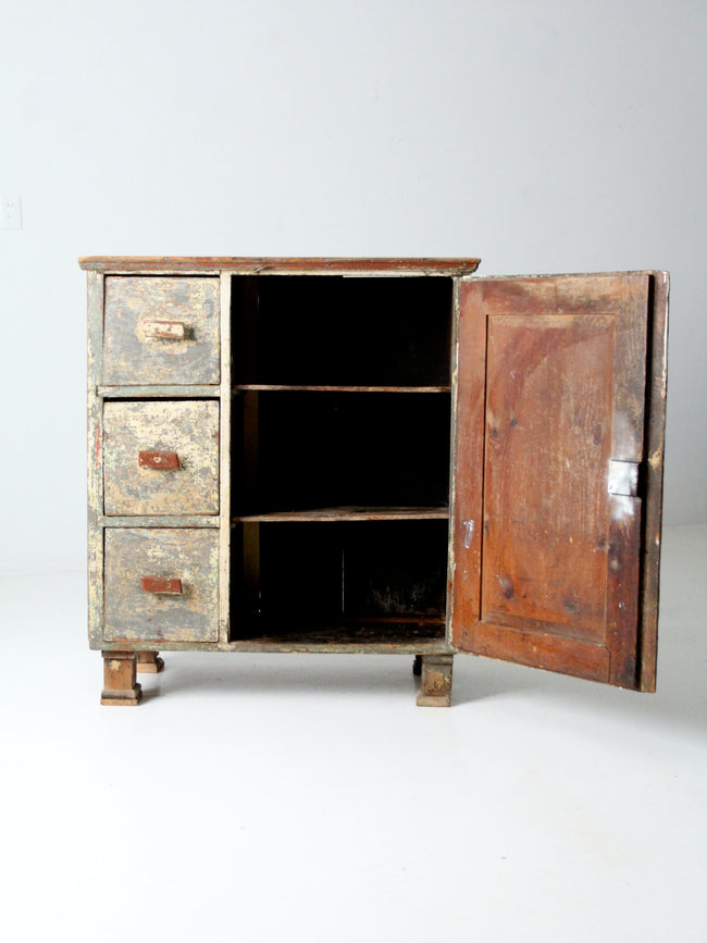 antique primitive cabinet