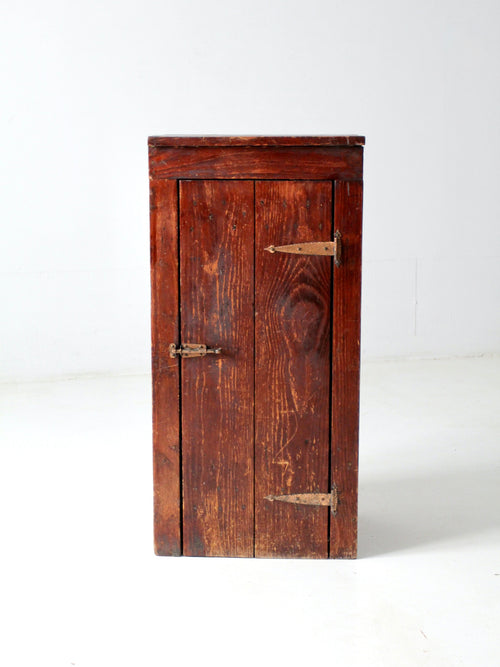 antique wood side cabinet