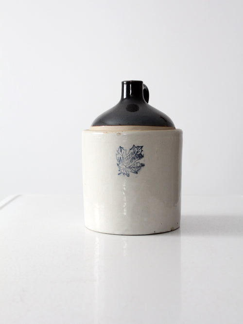 antique Western Stoneware crock jug