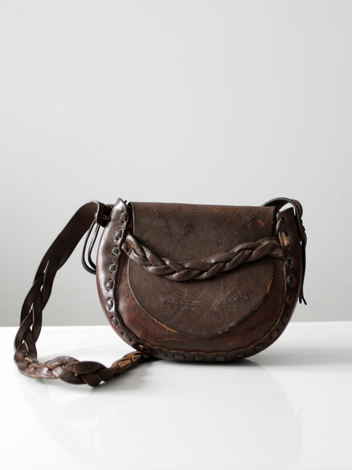 vintage 1970s leather shoulder bag