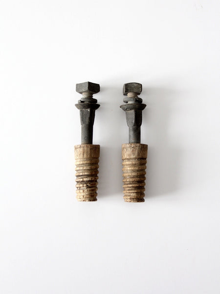 vintage hardware, pair of bolts