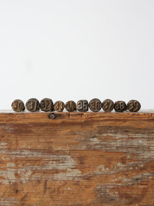 1930s railroad date nail collection