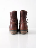 vintage lace up work boots, men's size 10