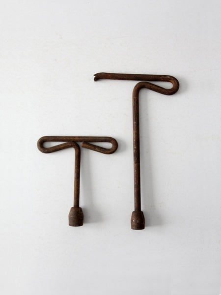 antique iron hook
