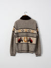 vintage 50s horse sweater by A.Caldwell