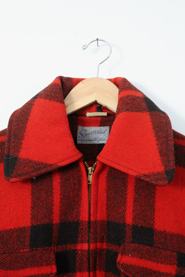 vintage 40s Sportclad wool plaid coat
