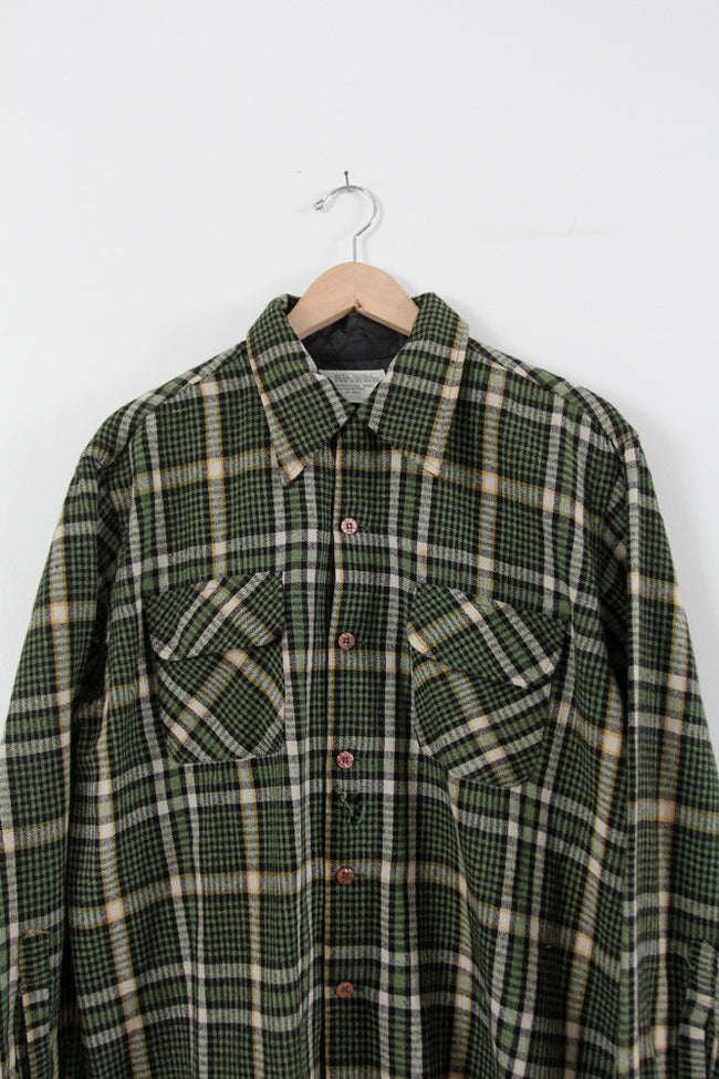 vintage 70s JC Penney plaid shirt