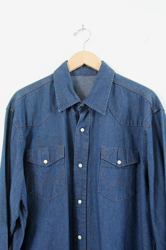 vintage 70s Wrangler denim shirt