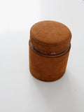 vintage English leather cigar humidor