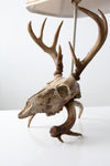 vintage deer skull table lamp