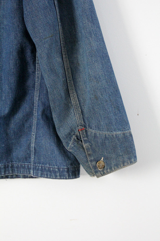 vintage 40s men's Sanforized denim jacket
