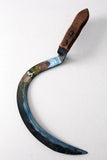 vintage folk art painted sickle