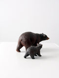 vintage Breyer Molding Co. bear and cub model set