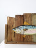 vintage American folk art fish sign