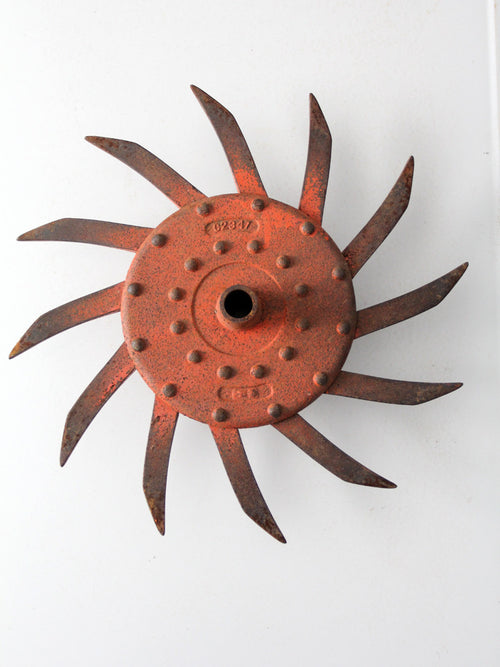 antique hoe wheel