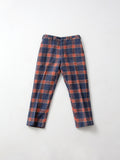 vintage blue plaid wool pants