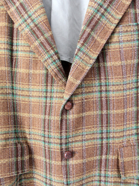 vintage 50s men's tweed sport coat