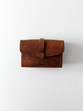 vintage 1940s leather pouch