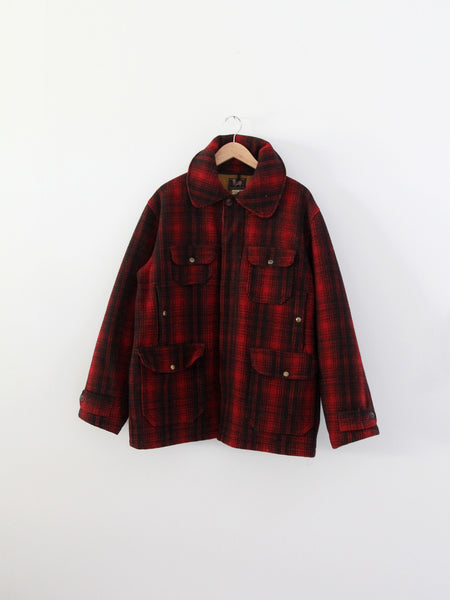 a2752329eb5a7 1940s Woolrich jacket; vintage Woolrich plaid jacket; vintage 40s hunting  ...