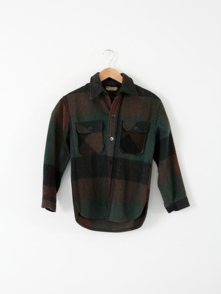 vintage 40s wool plaid shirt