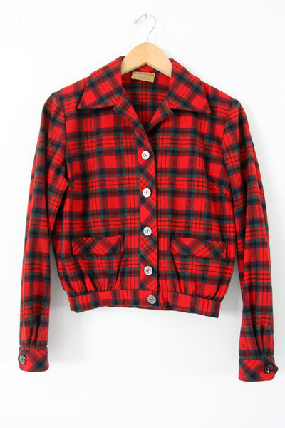 vintage 50s Bobbie Brooks plaid jacket