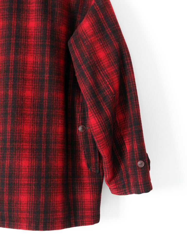 1960s Woolrich plaid wool coat