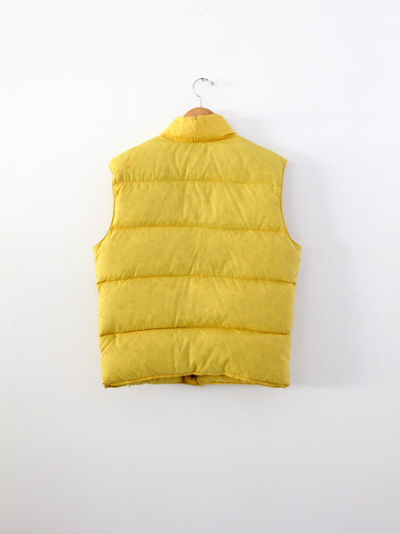 vintage 70s yellow puff vest